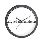 tall, red and handsome Wall Clock