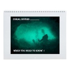 Cute For scuba divers Wall Calendar