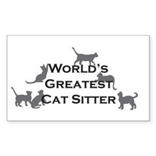 World's Greatest Cat Sitter Rectangle Decal