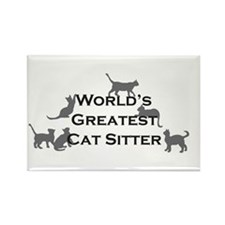 World's Greatest Cat Sitter Rectangle Magnet