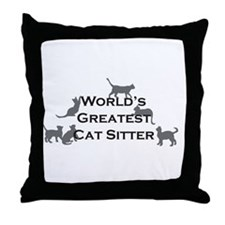 World's Greatest Cat Sitter Throw Pillow