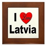 I Love Latvia Framed Tile