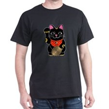 Black Maneki Neko T-Shirt