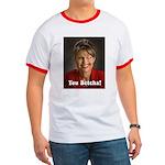 YOU BETCHA Sarah Palin Ringer T Shirt