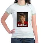 YOU BETCHA Sarah Palin Jr. Ringer T-Shirt