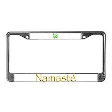 Go Green Lotus License Plate Frame