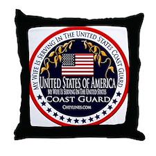 Coast Guard Wife Throw Pillow