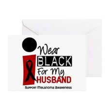 I Wear Black For My Husband 9 Greeting Card