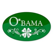 ::: Irish O'bama 44th President ::: Oval Decal