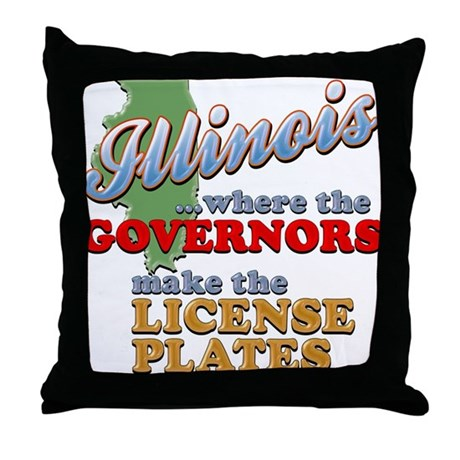 Corrupt Illinois Throw Pillow
