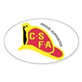 Oval CSFA Support Décalcomanies