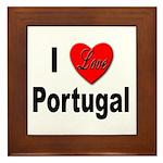 I Love Portugal Framed Tile
