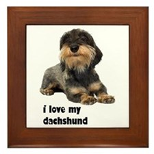 I Love My Dachshund Framed Tile