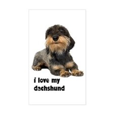 I Love My Dachshund Rectangle Sticker