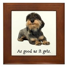Good Wirehaired Dachshund Framed Tile