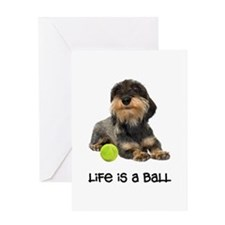 Wirehaired Dachshund Life Greeting Card