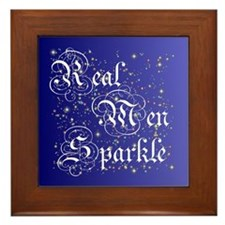 Real Men Sparkle Twilight Framed Tile