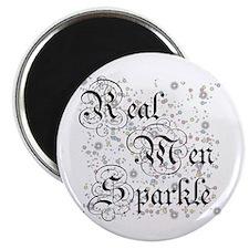 """Real Men Sparkle Twilight 2.25"""" Magnet (100 pack)"""