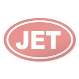 JET Euro Oval Oval Sticker (50 pk)