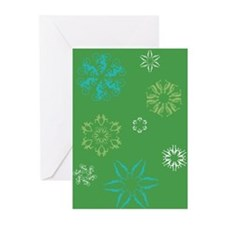 Triathlon Snowflakes Greeting Cards (Pk of 10)