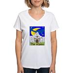 Starry Night Alamo Women's V-Neck T-Shirt