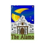 Starry Night Alamo Rectangle Magnet