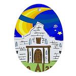 Starry Night Alamo Oval Ornament