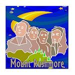 Starry Night Mt RushmoreTile Coaster