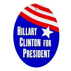 Hillary Clinton 2008 oval ornament