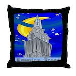 Starry Night New York Throw Pillow