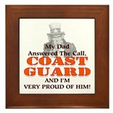 My Coast Guard Dad Answered Framed Tile