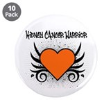 "Kidney Cancer Warrior 3.5"" Button (10 pack)"