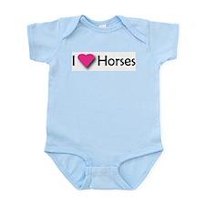 I LUV HORSES Infant Creeper