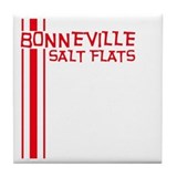 Retro Bonneville Salt Flats-R Tile Coaster