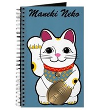 White Maneki Neko Journal