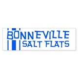 Retro Stripe-Bonneville Salt Bumper Bumper Sticker