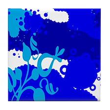 Blue Bubbles Tile Coaster