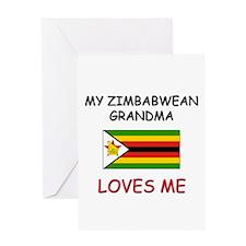My Zimbabwean Grandma Loves Me Greeting Card