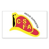 Rectangular CSFA Support Decal