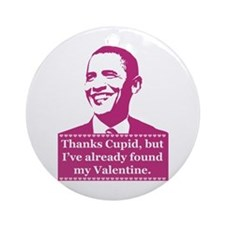 Obama Valentine's Day Ornament (Round)