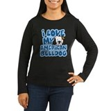 I Love my Am Bulldog Women's Long Sleeve Dark Tee