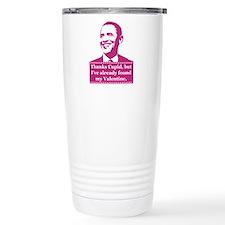 Obama Valentine's Day Travel Mug