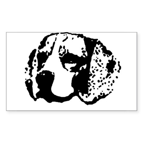 Beagle Face Rectangle Sticker