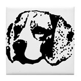 Beagle Face Tile Coaster