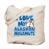 I Love my Alaskan Malamute Tote Bag