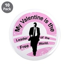 "Obama Valentine 3.5"" Button (10 pack)"