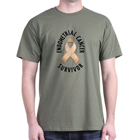Endometrial Cancer Survivor Dark T-Shirt