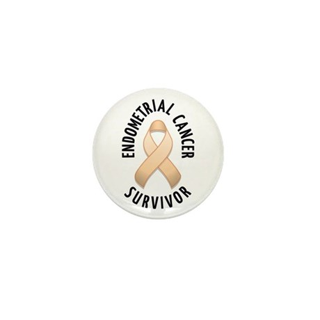 Endometrial Cancer Survivor Mini Button