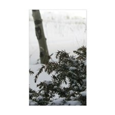 Winter Shrubs Rectangle Decal