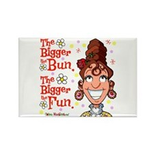 The Bigger the Bun Rectangle Magnet (100 pack)